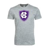 Next Level SoftStyle Heather Grey T Shirt-HC Shield