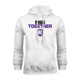 White Fleece Hoodie-Rise Together