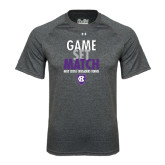 Under Armour Carbon Heather Tech Tee-Game Set Match - Tennis Design