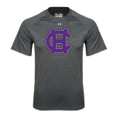 Under Armour Carbon Heather Tech Tee-Interlocking HC