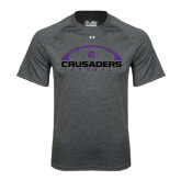 Under Armour Carbon Heather Tech Tee-Crusaders Football Horizontal