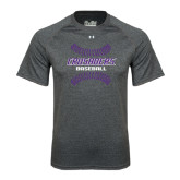 Under Armour Carbon Heather Tech Tee-Baseball Stitches
