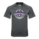 Under Armour Carbon Heather Tech Tee-Crusaders Basketball Arched w/ Ball