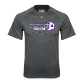 Under Armour Carbon Heather Tech Tee-Soccer w/ Flying Ball