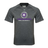 Under Armour Carbon Heather Tech Tee-Vollyball Ball Design