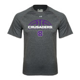 Under Armour Carbon Heather Tech Tee-Basketball Half Ball Design