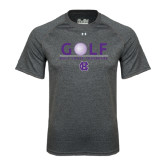Under Armour Carbon Heather Tech Tee-Golf Ball Design