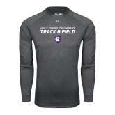 Under Armour Carbon Heather Long Sleeve Tech Tee-Track and Field Design