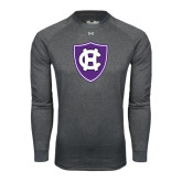 Under Armour Carbon Heather Long Sleeve Tech Tee-HC Shield