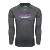 Under Armour Carbon Heather Long Sleeve Tech Tee-Baseball Stitches