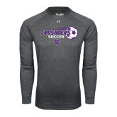 Under Armour Carbon Heather Long Sleeve Tech Tee-Soccer w/ Flying Ball