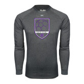 Under Armour Carbon Heather Long Sleeve Tech Tee-Soccer Shield Design