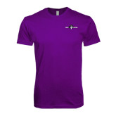 Next Level SoftStyle Purple T Shirt-Official Logo