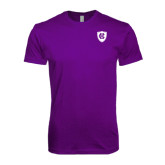 Next Level SoftStyle Purple T Shirt-HC Shield