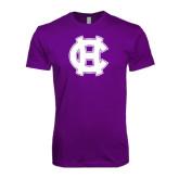 Next Level SoftStyle Purple T Shirt-Interlocking HC