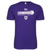 Next Level SoftStyle Purple T Shirt-2017 Patriot League Mens Champions Baseball