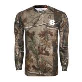 Realtree Camo Long Sleeve T Shirt w/Pocket-Interlocking HC