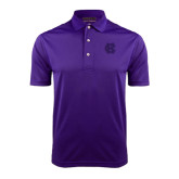 Purple Dry Mesh Polo-Interlocking HC