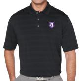 Callaway Horizontal Textured Black Polo-HC Shield