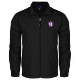 Full Zip Black Wind Jacket-HC Shield