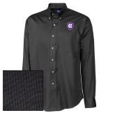 Cutter & Buck Black Nailshead Long Sleeve Shirt-HC Shield