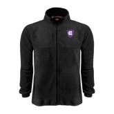 Fleece Full Zip Black Jacket-HC Shield