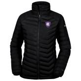 Columbia Powder Lite Ladies Black Jacket-HC Shield