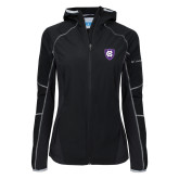 Columbia Ladies Sweet As Softshell Black Jacket-HC Shield