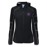 Columbia Ladies Sweet As Black Hooded Jacket-Interlocking HC