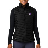 Columbia Lake 22 Ladies Black Vest-HC Shield
