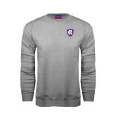 Grey Fleece Crew-HC Shield