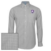 Mens Charcoal Plaid Pattern Long Sleeve Shirt-HC Shield