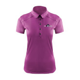 Ladies Ogio Deep Purple Pleated Back Polo-Official Logo