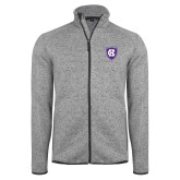 Grey Heather Fleece Jacket-HC Shield