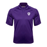 Purple Textured Saddle Shoulder Polo-HC Shield