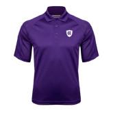 Purple Textured Saddle Shoulder Polo-HC Shield
