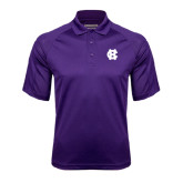 Purple Textured Saddle Shoulder Polo-Interlocking HC