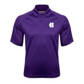 Purple Textured Saddle Shoulder Polo-Interlocking HC