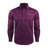 Red House Deep Purple Herringbone Non Iron Long Sleeve Shirt-Official Logo