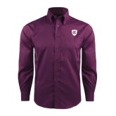 Red House Deep Purple Herringbone Non Iron Long Sleeve Shirt-HC Shield