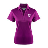 Ladies Purple Performance Fine Jacquard Polo-HC Shield