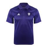 Adidas Climalite Purple Jaquard Select Polo-HC Shield