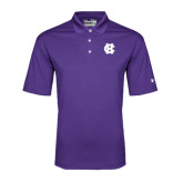 Under Armour Purple Performance Polo-Interlocking HC