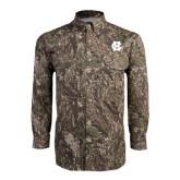 Camo Long Sleeve Performance Fishing Shirt-Interlocking HC