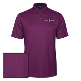 Purple Performance Fine Jacquard Polo-Official Logo