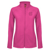 Ladies Fleece Full Zip Raspberry Jacket-Interlocking HC