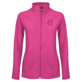 Ladies Fleece Full Zip Raspberry Jacket-Interlocking HC