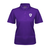 Ladies Purple Dry Mesh Polo-HC Shield