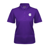 Ladies Purple Dry Mesh Polo-Interlocking HC