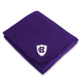 Purple Arctic Fleece Blanket-HC Shield
